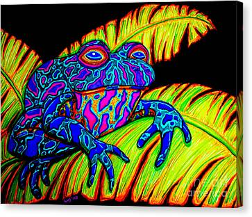 Tropical Frog Canvas Print by Nick Gustafson