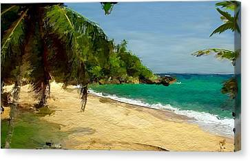 Tropical Gentle Breeze  Canvas Print by Anthony Fishburne