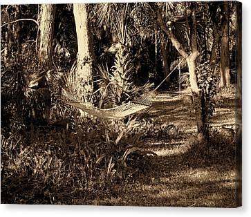 Tropical Hammock Canvas Print by Susanne Van Hulst