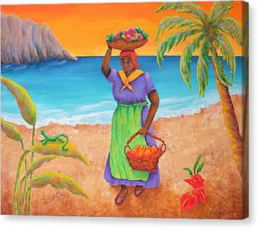 Tropical Harvest Canvas Print by Pamela Allegretto