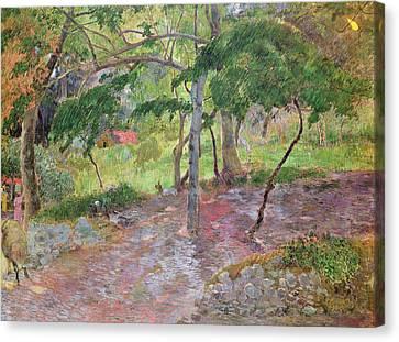 Tropical Landscape Canvas Print by Paul Gauguin