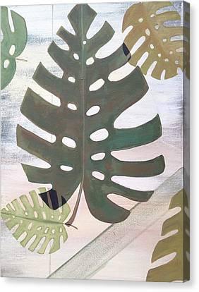 Tropical Leaf Canvas Print by Laura Parrish