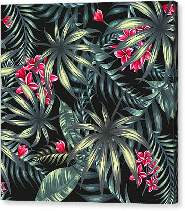 Tropical Leaf Pattern  Canvas Print by Stanley Wong