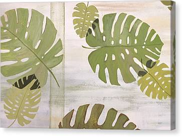 Tropical Leaves  Canvas Print by Laura Parrish