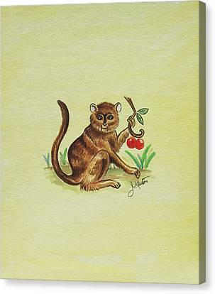 Tropical Monkey 1 Canvas Print by John Keaton