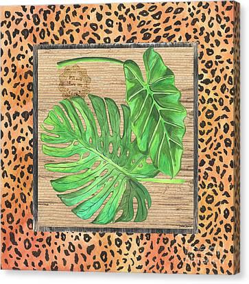Tropical Palms 2 Canvas Print by Debbie DeWitt