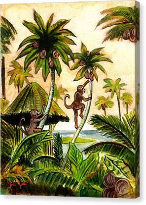 Tropical Scene Canvas Print by John Keaton