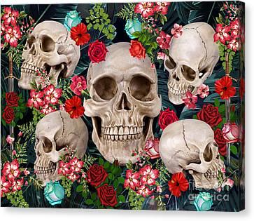 Tropical Skull  Canvas Print by Mark Ashkenazi