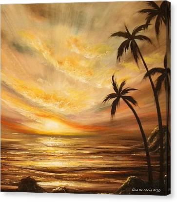 Tropical Sunset 64 Canvas Print by Gina De Gorna