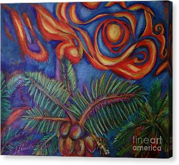 Tropical Sunset Canvas Print by Jamey Balester