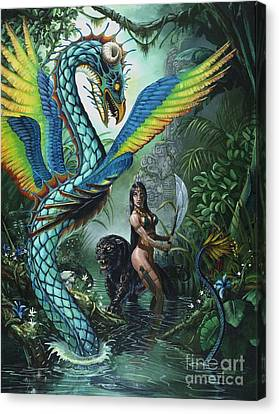 Tropical Temptress Canvas Print by Stanley Morrison