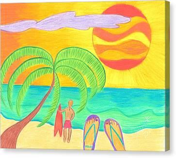 Tropical Twilight Glow Canvas Print by Geree McDermott