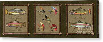 Trout Fly Panel Canvas Print by Jon Q Wright