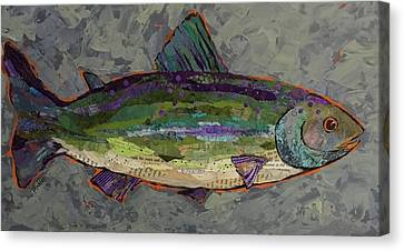 Trout Canvas Print by Phiddy Webb