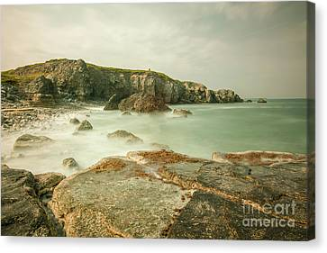 Trow Rocks From Graham Sands Canvas Print by Andy Blakey