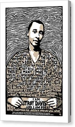 Troy Davis Canvas Print by Ricardo Levins Morales