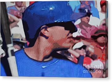 Troy Tulowitzki Canvas Print by Nina Silver