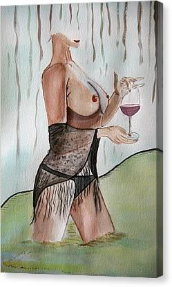 True Wine. Canvas Print by Shlomo Zangilevitch