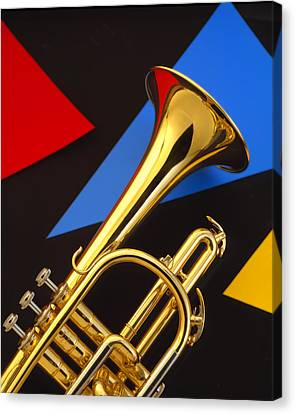 Trumpet And Triangles Canvas Print by Utah Images