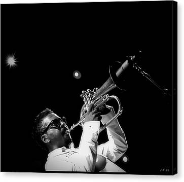 Trumpeter Roy Hargrove  Canvas Print by Jean Francois Gil