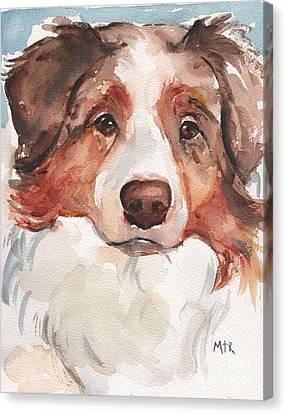 Tucker Canvas Print by Maria's Watercolor