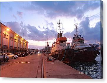 Tug Boats Canvas Print by Gaspar Avila