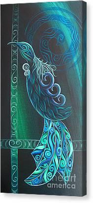 Tui Bird Canvas Print by Reina Cottier
