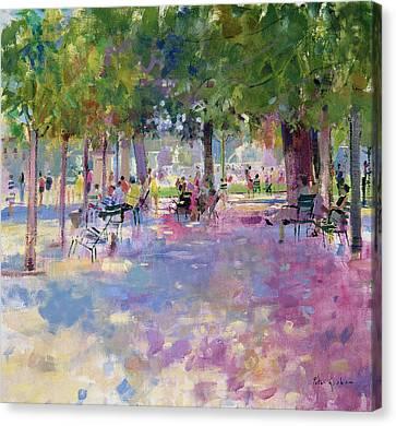 Tuileries  Paris Canvas Print by Peter Graham