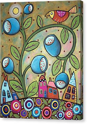 Tulip Town Canvas Print by Karla Gerard