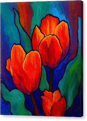 Tulip Trio Canvas Print by Marion Rose
