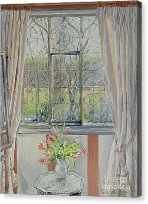Tulips For A January Morning Canvas Print by Timothy Easton