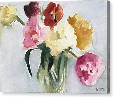 Tulips In My Studio Canvas Print by Beverly Brown Prints