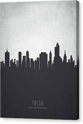 Tulsa Oklahoma Cityscape 19 Canvas Print by Aged Pixel