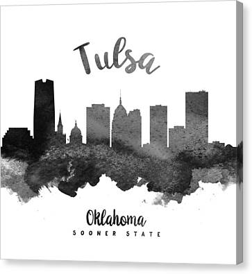 Tulsa Oklahoma Skyline 18 Canvas Print by Aged Pixel