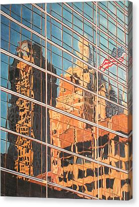 Tulsa Relections 2 Canvas Print by Kenny King