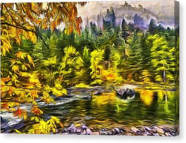 Tumwater Autumn Canvas Print by Mark Kiver