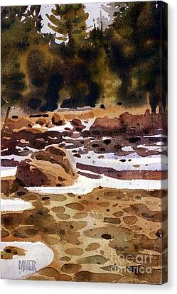 Tuolumne River Freeze Canvas Print by Donald Maier