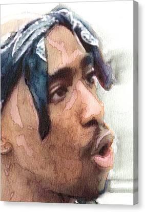 Tupac Dead Rap Artist Detail Canvas Print by Jani Heinonen