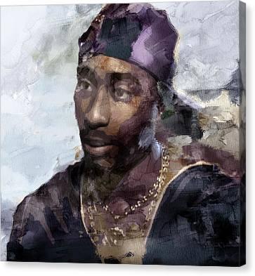 Tupac 74333359 Canvas Print by Jani Heinonen