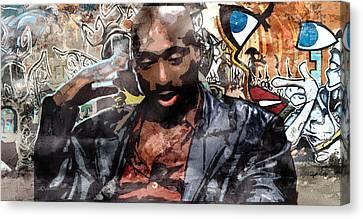 Tupac Graffitti 1 Canvas Print by Jani Heinonen