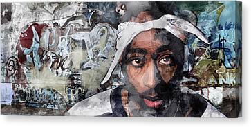 Tupac Graffitti 8 Canvas Print by Jani Heinonen