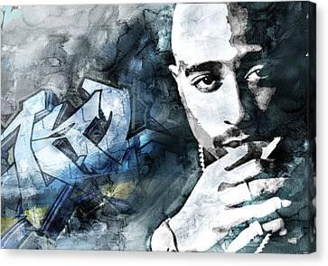 Tupac Graffitti 9 Canvas Print by Jani Heinonen