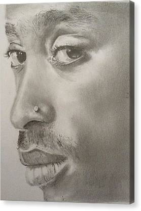 Tupac Shakur Canvas Print by Heather Blickley