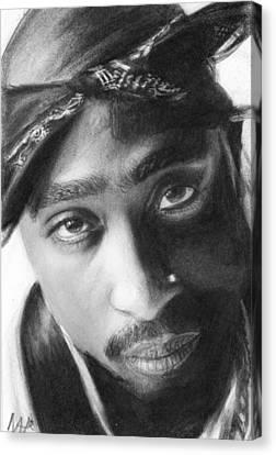 Tupac Canvas Print by Nat Morley