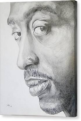 Tupac Shakur Canvas Print by Stephen Sookoo