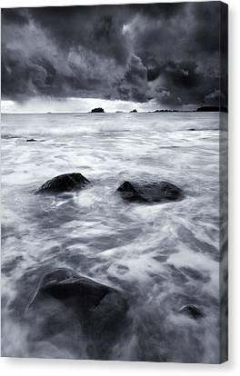 Turbulent Seas Canvas Print by Mike  Dawson