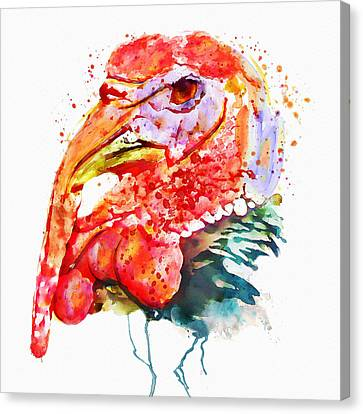 Turkey Head Canvas Print by Marian Voicu