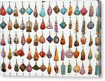 Turkish Earrings Canvas Print by Tom Gowanlock