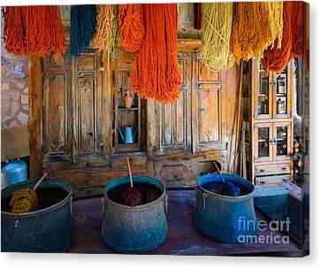 Turkish  Rug Maker Canvas Print by Inge Johnsson