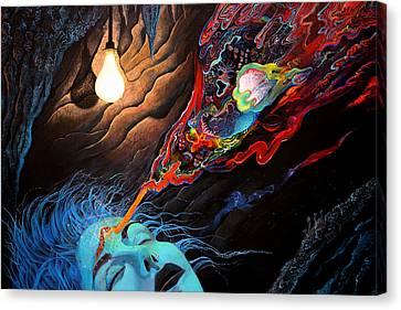 Turn The Light On Canvas Print by Steve Griffith
